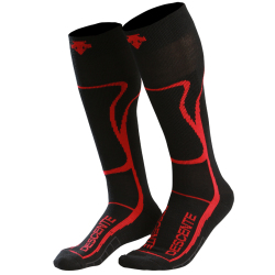 Descente Support Ski Sock Black Red
