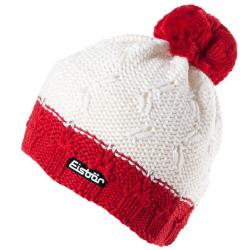 Eisbar Riga Swarovski Crystal MU Austrian Winter Pompon Ski Hat White Red