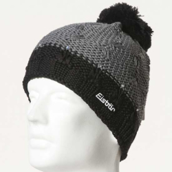 Eisbar Riga Swarovski Crystal MU Austrian Winter Pompon Ski Hat grey black