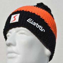 Eisbar Star Neon Pompon MU SP Austrian Winter Ski Hat black orange