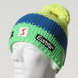 Eisbar Star Neon Pompon MU SP Austrian Winter Ski Hat yellow blue green