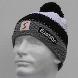 Eisbar Star Pompon MU SP Austrian Winter Ski Hat black white grey