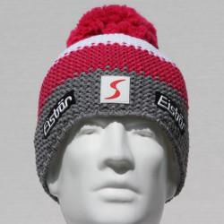 Eisbar Star Pompon MU SP Austrian Winter Ski Hat pink white grey