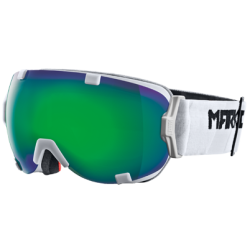 Marker 2015 Projector White : Green Plasma Mirror Lens Ski Goggles