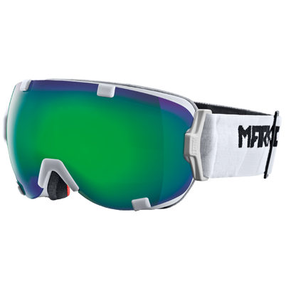 ec48dd6298a4 Marker 2015 Projector White   Green Plasma Mirror Lens Ski Goggles ...